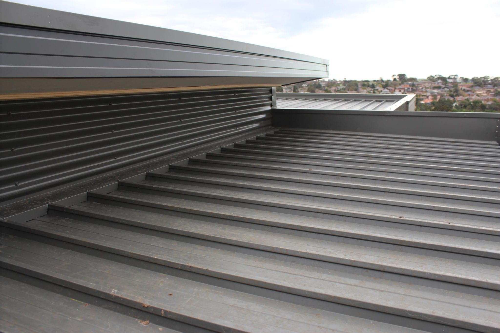 Multi Level Flat Deck Roof